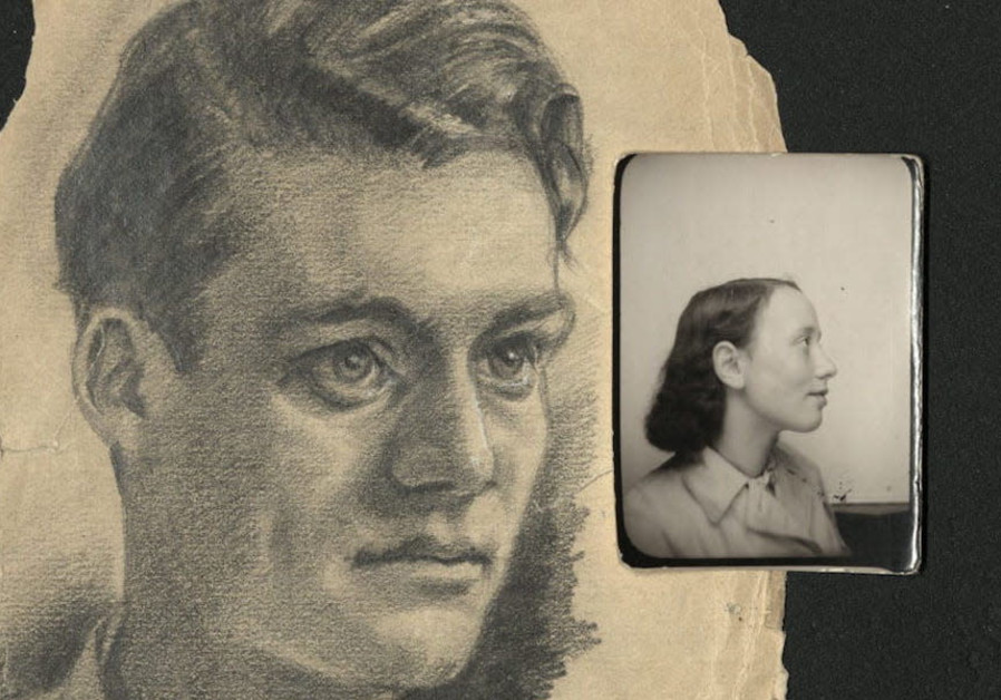 A hand-drawn portrait of a young man in an internment camp (Credit: US Holocaust Memorial Museum/Gift of David Spegal via JTA)