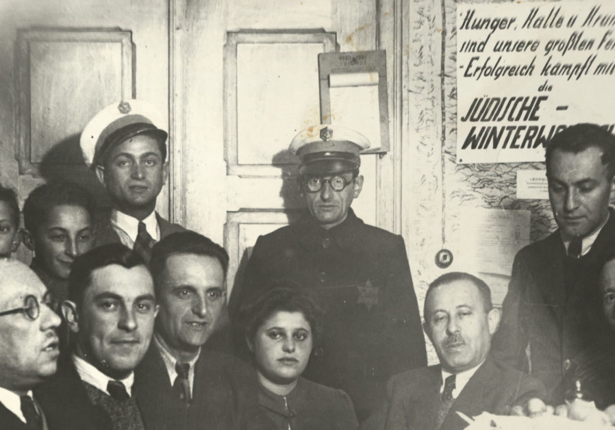 A photo of the Judenrat in Slawkow, Poland (Credit: United States Holocaust Memorial Museum/Gift of Mark Grinberg via JTA)