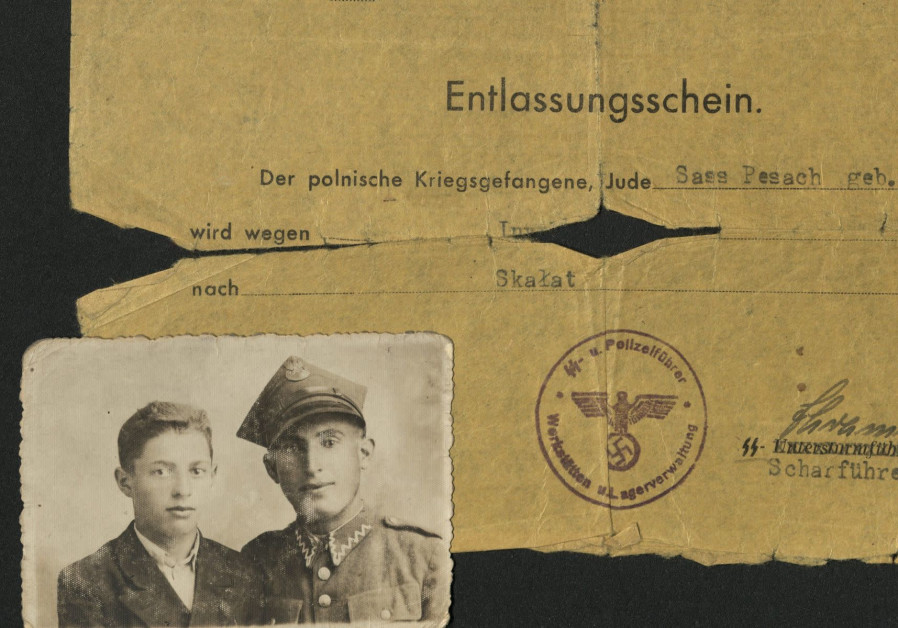 A discharge pass for a Polish Jew held in a German POW camp (Credit: United States Holocaust Memorial Museum/Gift of David Sass and Harvey Sass via JTA)