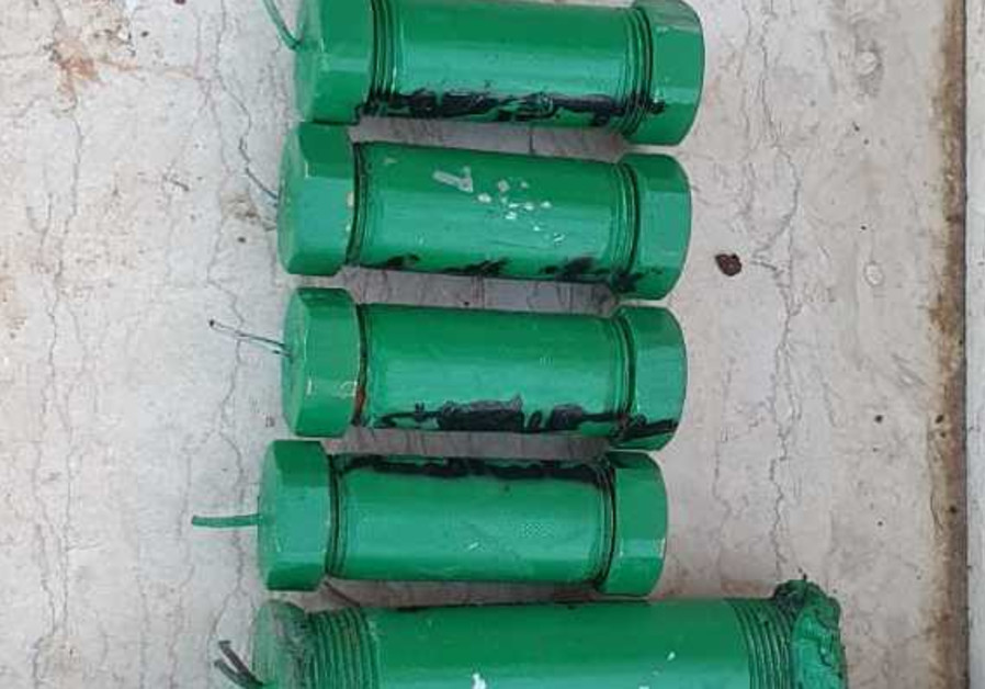 Pipe Bombs seized in Hebron during Police search (Credit: Israel Police Spokesperson Unit)
