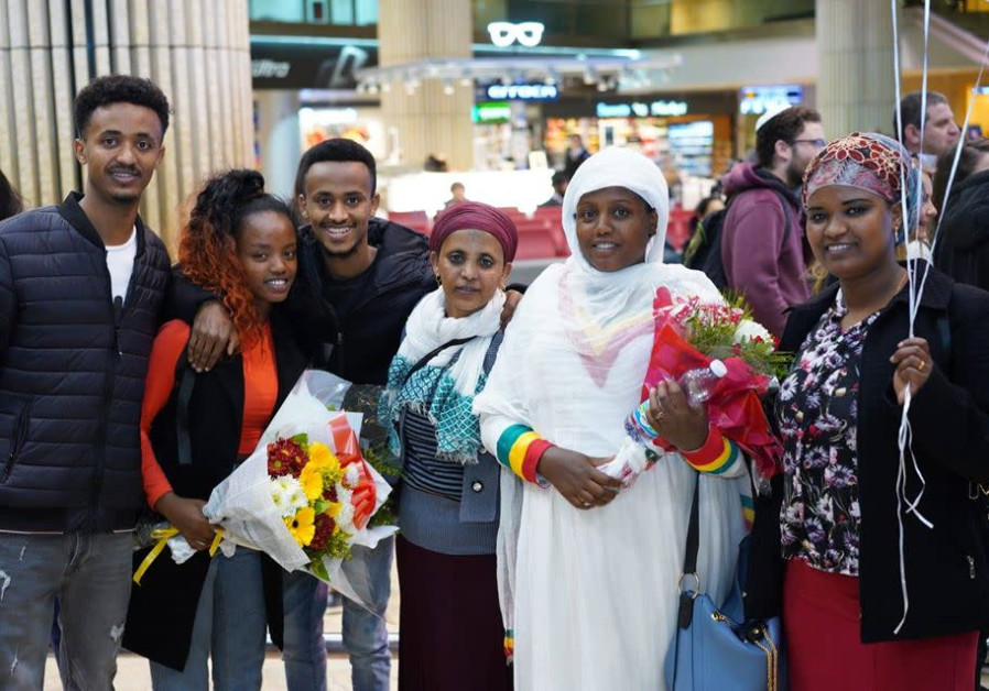 A flight of Ethiopian Jewish immigrants sponsored by the ICEJ arrive in Israel in late February 2020 (Credit: ICEJ)