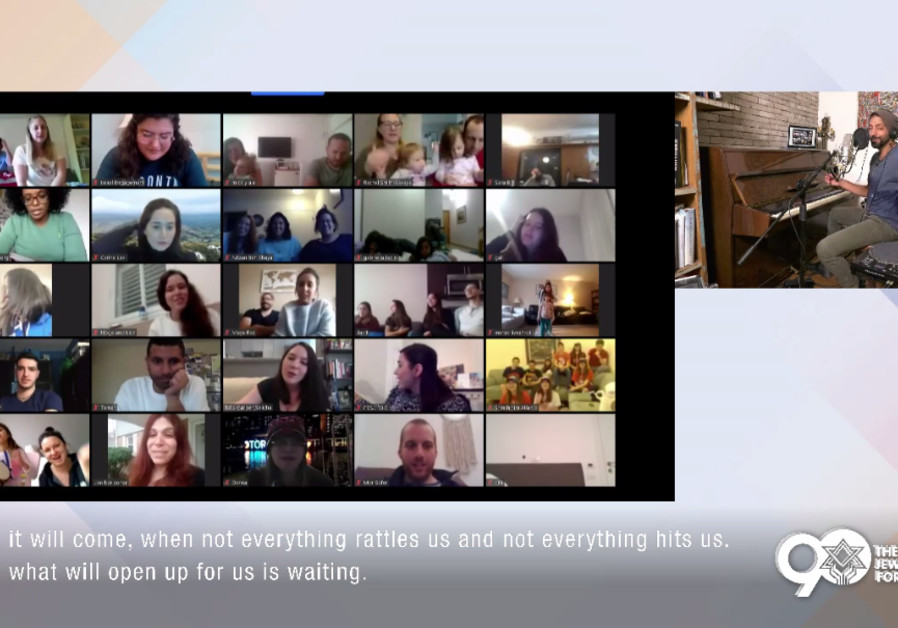Jewish Agency emissaries from around the world tune in to a live virtual concert with Idan Raichel  (Credit: Jewish Agency for Israel)
