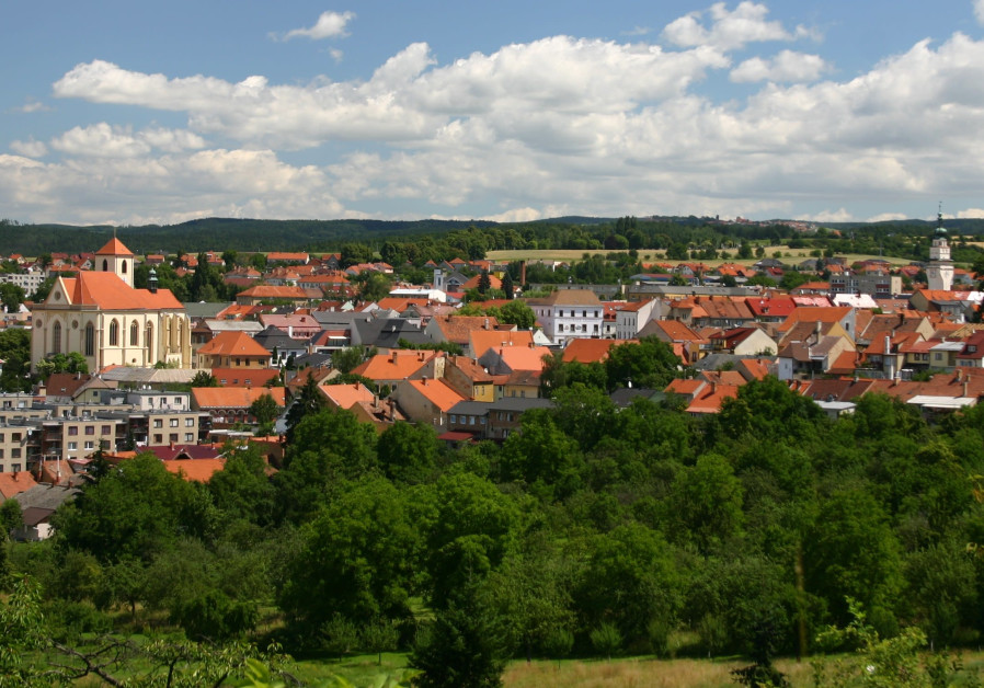 BOSKOVICE'S CENTER, with the Jewish Quarter shown (Photo Credit: Wikimedia Commons)