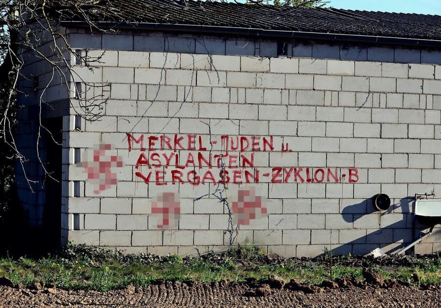 Antisemitic graffiti found in the German town of Heidelberg. April 22, 2020. (Source: AfD Watch Heidelberg)