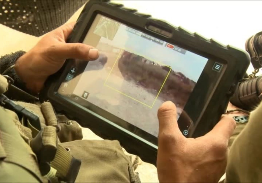 Controlling the FireFly through the tablet (Photo Credit:RAFAEL ADVANCED DEFENSE SYSTEMS)