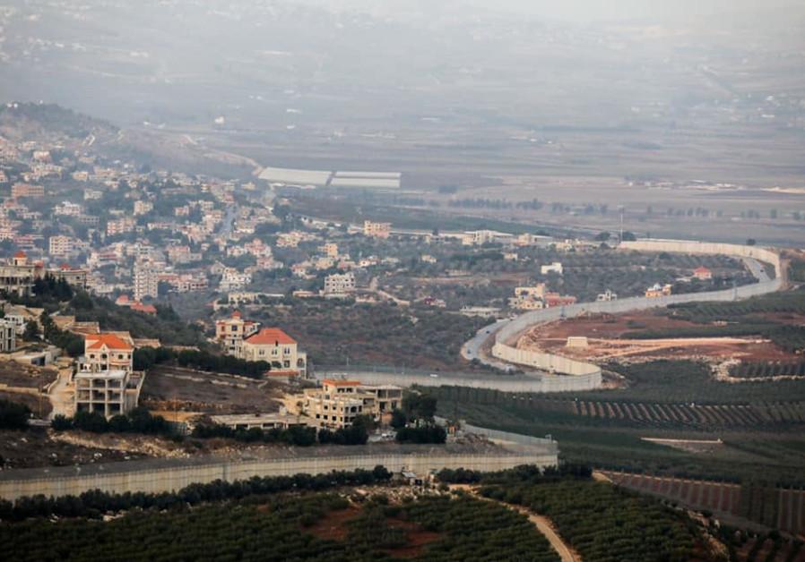 View of the Israel-Lebanon border (Photo Credit: Marc Israel Sellem/The Jerusalem Post)