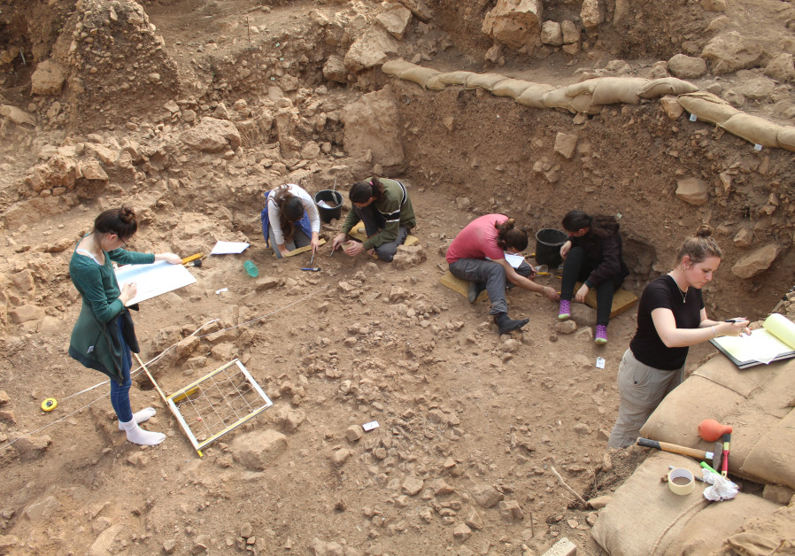 Excavation at el-Wad Terrace in the Carmel. (Photo credit: Reuven Yeshurum / University of Haifa)