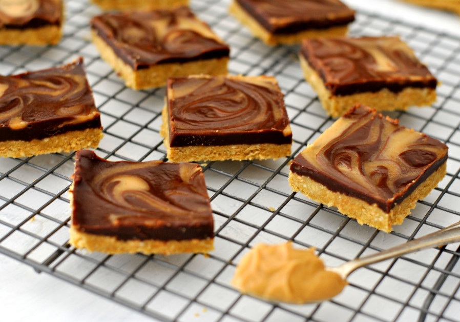 Chocolate and peanut butter squares (Credit: Pascale Perez-Rubin)