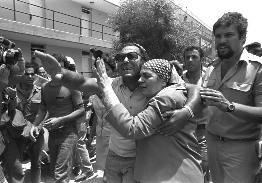 Family members reunite at Ben-Gurion Airport (Credit: Moshe Milner/GPO)