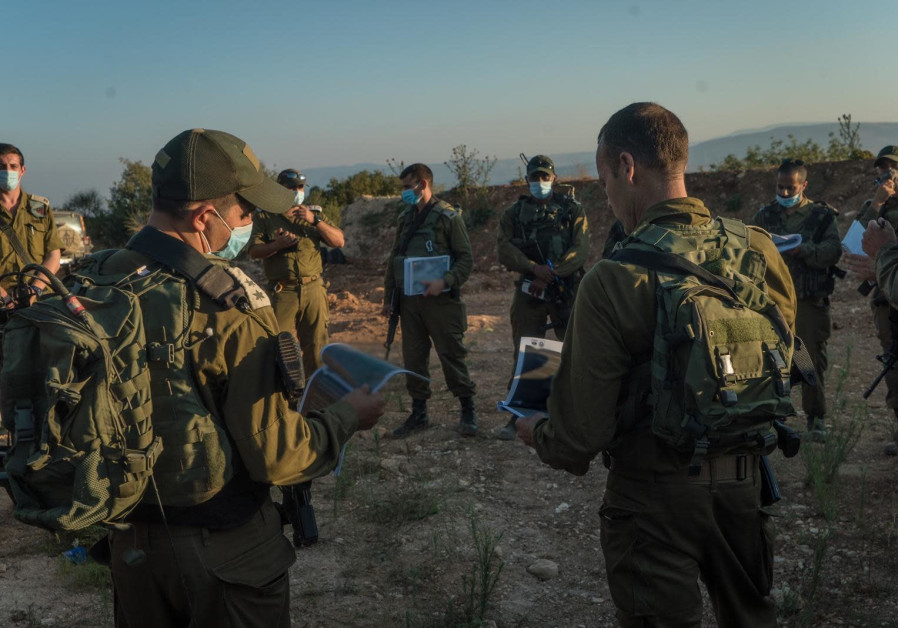 IDF prepares for possible Hezbollah attack in northern Israel, July 2020 (Credit: IDF Spokesperson's Unit)