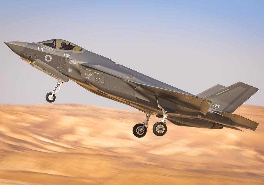 ISRAELI F-35 décolle d'une base aérienne dans le sud d'Israël. (Crédit: Amit Agronov / Force aérienne israélienne)
