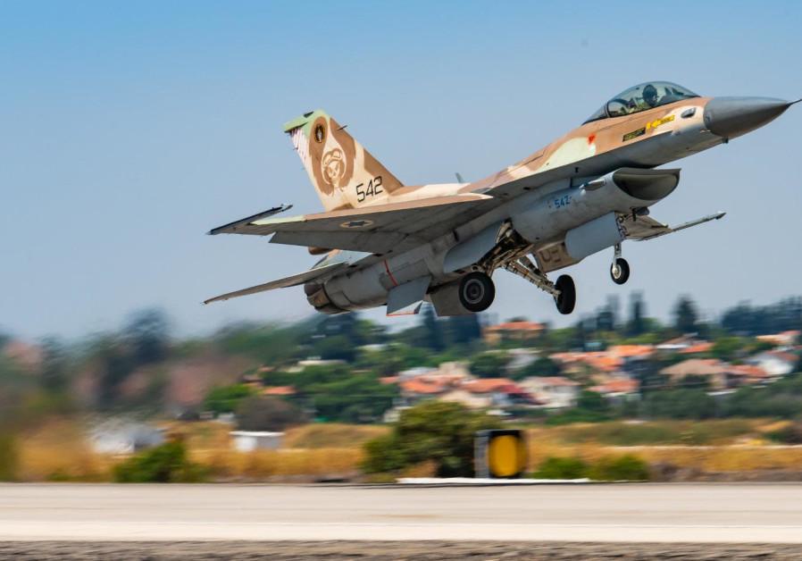 ISRAELI F-16 prend son envol. (Crédit: Unité du porte-parole de la FID)