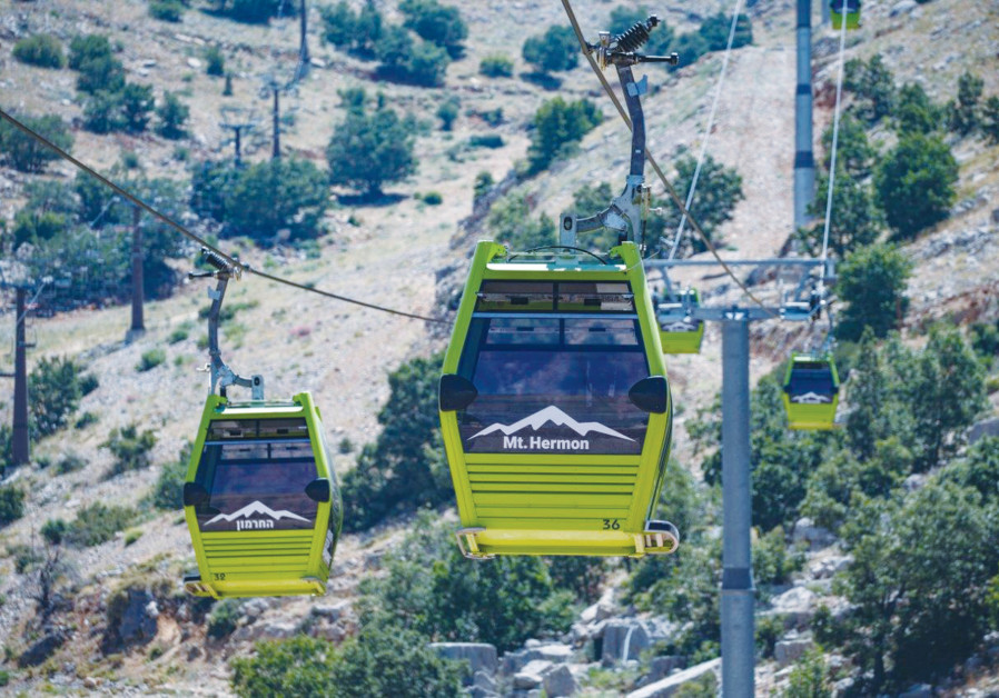 Mount Hermon is the coolest place in Israel, which is a good reason to take the new cable car bubble and climb up to the peak. (Credit Taly Sharon)