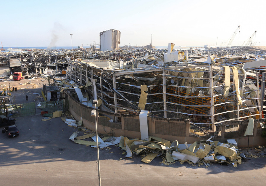 A general view shows damages caused by Tuesday's blast in Beirut's port area, Lebanon, August 6, 2020 (Credit: Reuters/Aziz Taher)