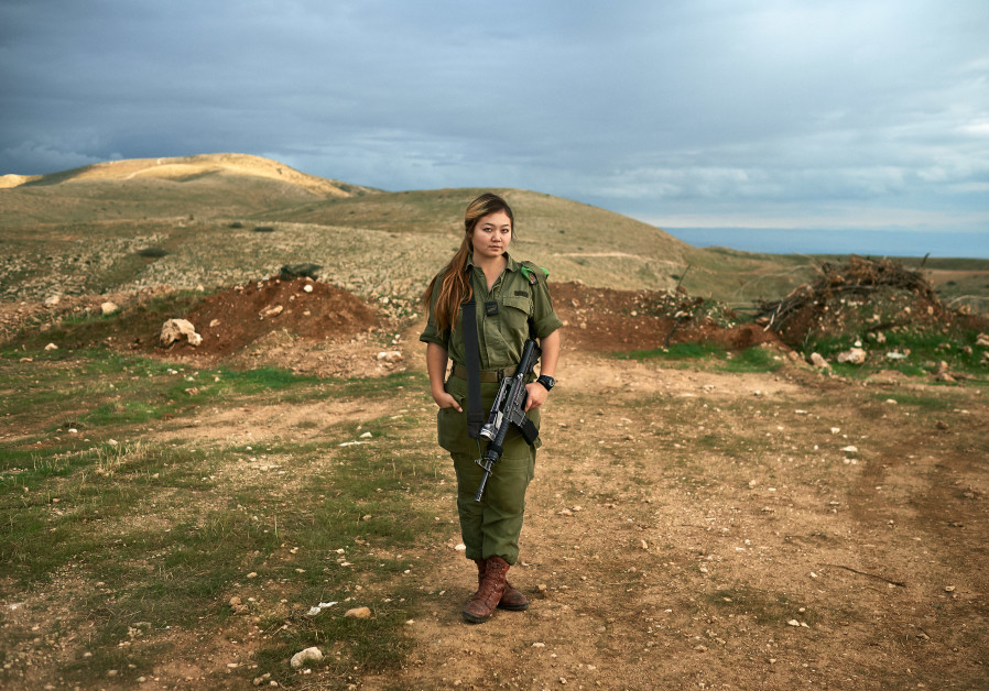 The photographs taken by Slomovic over the years for his book show the landscape of Israel and the soldier, alone. (Photo credit: Dr. Brant Slomovic)