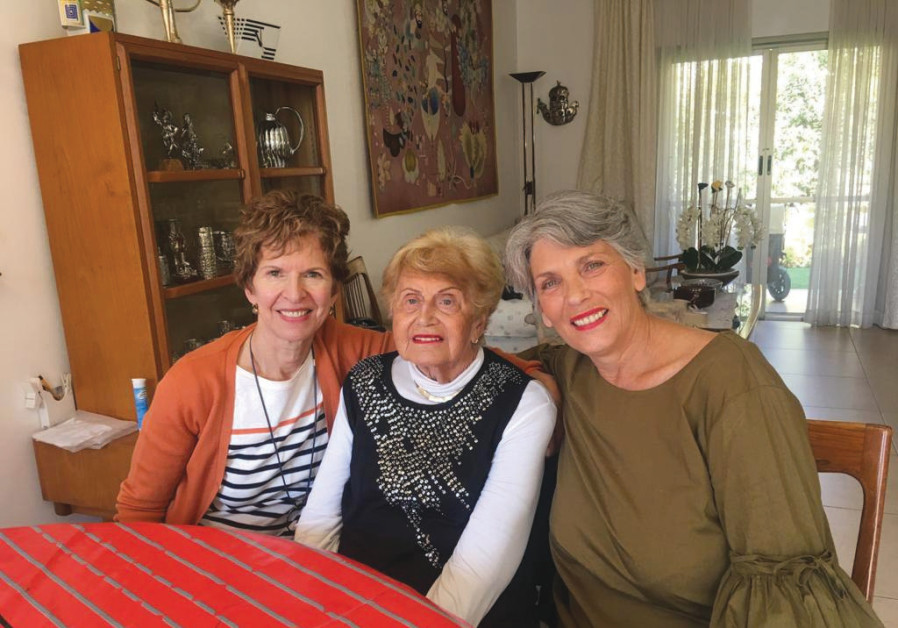 SEYMA LEDERMAN (center) and her daughter Shosh (left) supported the production of the 'Leah, Teddy & the Mandolin' documentary, about Cape Town's Leah Todres Yiddish Song Festival, directed by Heather Blumenthal (right). (Seyma Lederman)