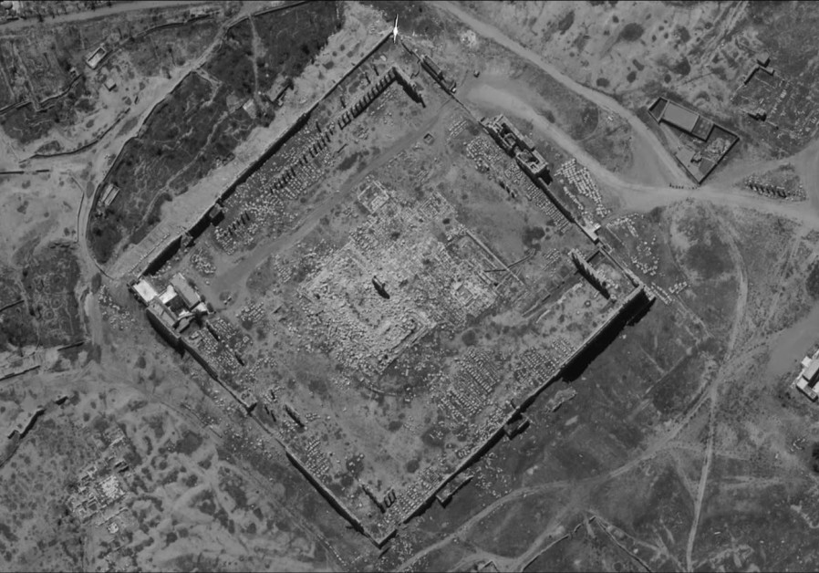 Photo taken by Ofek 16 satellite over Syria showing the ancient city of Tadmur (Credit: Defense Ministry)