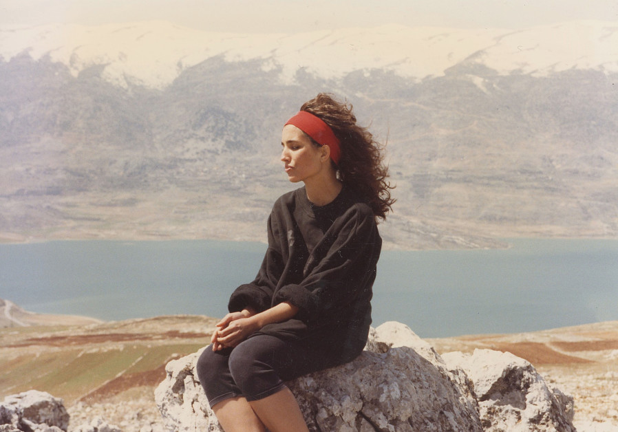 The writer in her ancestral village of Karound in the Bekaa Valley, April 1993 (Credit: Ouday Raad)