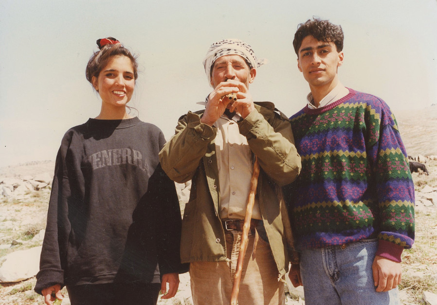 Ouday Raad and the writer with the village goatherd, who lost half his herd when one stepped on a landmine in 1982, Karoun, April 1993 (Credit: Hadani Ditmars)
