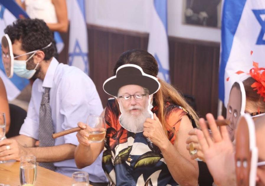 The Darkenu exhibition at Rabin Square, Tel Aviv, September 6, 2020. (Credit: Sassoni Avshalom)