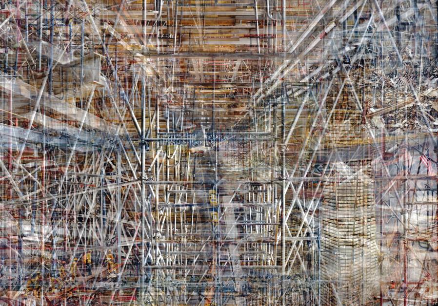 AMERICAN-ISRAELI artist Shai Kremer's 'World Trade Center: ConcreAbstract' series feeds off documentation of the site's reconstruction. (Shai Kremer)