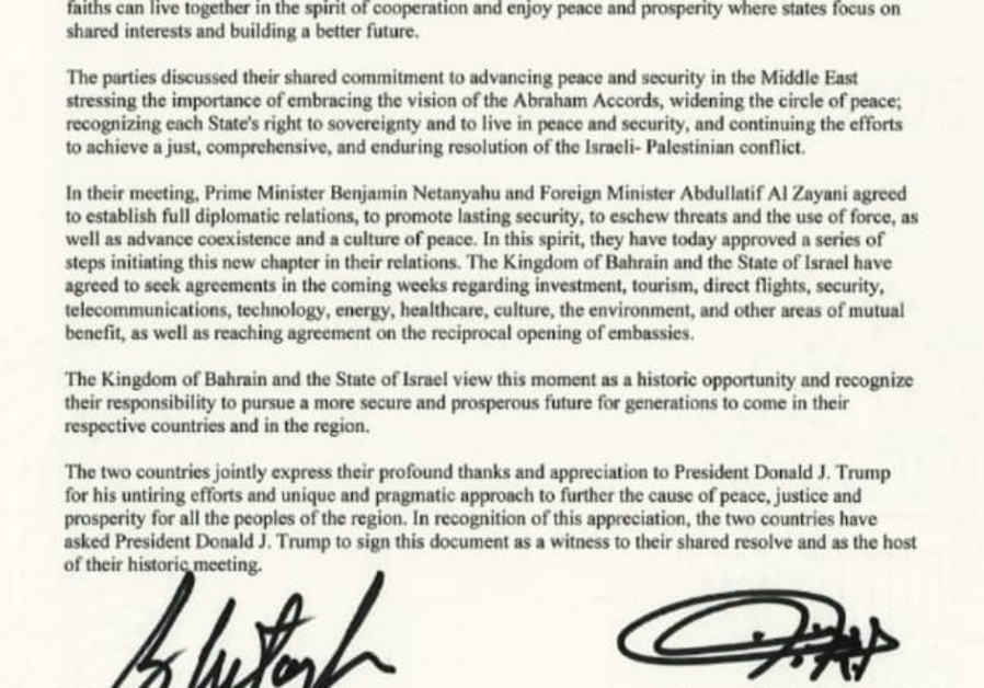 Declaration of peace, cooperation, and constructive diplomatic and friendly relations.