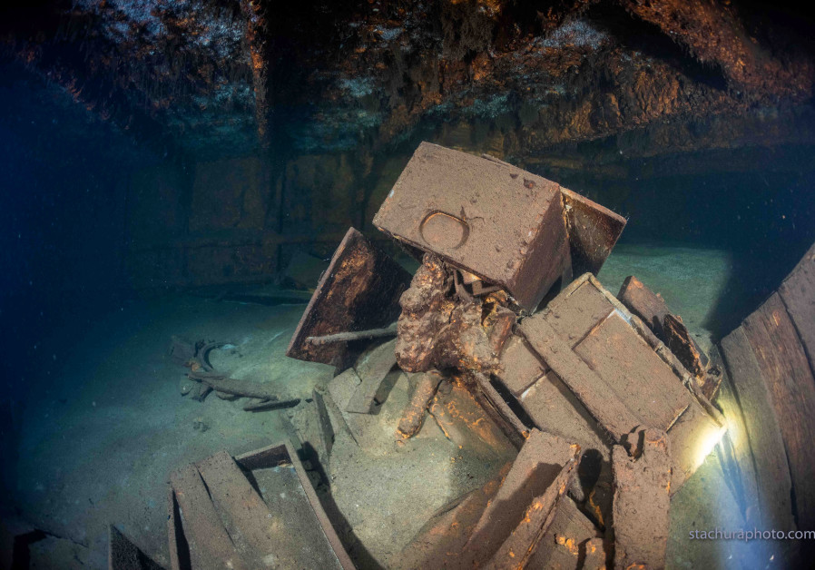 """A wreck of a German Second World War ship """"Karlsruhe"""" is seen during a search operation in the Baltic sea in June 2020. Polish divers say they have discovered the wreck of a German Second World War ship which may help solve a decades-old mystery - the location of the Amber Room, an ornate chamber from a St Petersburg palace that was looted by Nazi Germans. (Reuters)"""