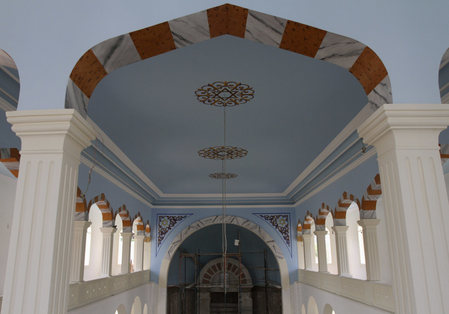 The interior of Maghen Abraham, Beirut's oldest synagogue, during renovations done in 2010. (Credit: Reuters)