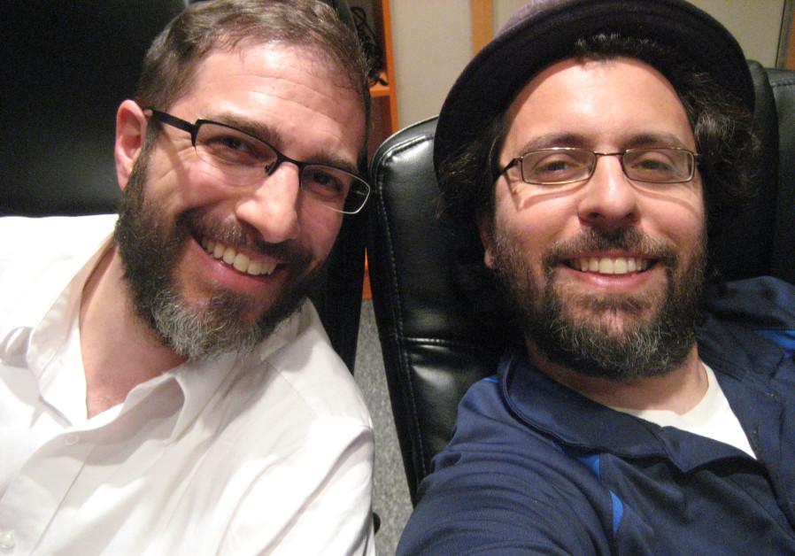 Shimshon Meir Frankel and Amihai Zippor (Photo credit: Courtesy)