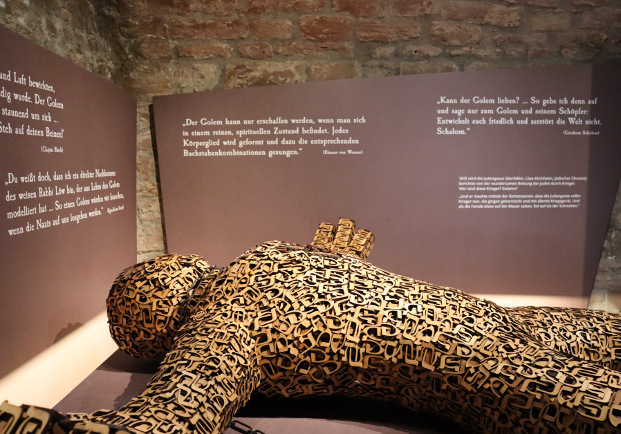 US artist Joshua Abarbanel's artwork 'Golem' on display (Credit:SchUM-Städte e.V.)