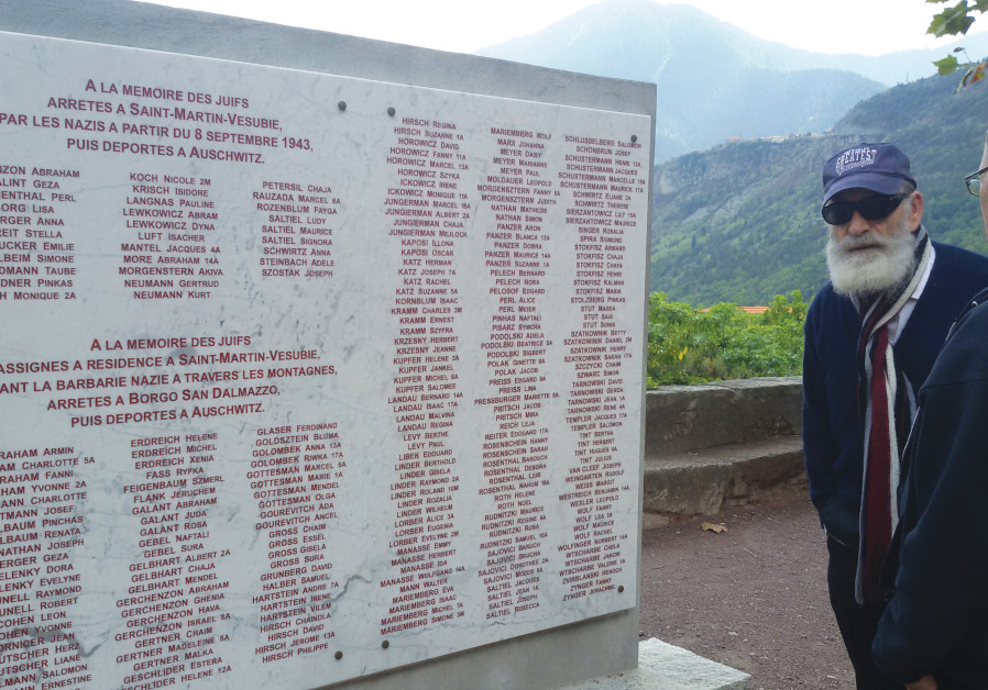 The memorial to those deported from from Saint Martin Vesubie. The names are read annually following the Marche de la Memoire.  (Courtesy: Schonbrunn family)