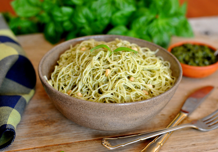 A hearty bowl of pesto pasta is a wonderful thing. (Photo: Pascale Perez-Rubin)