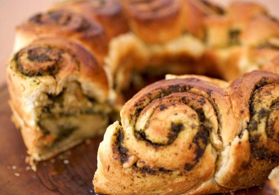 Pesto bread is a novel way to enjoy this Italian classic.  (Photo: Pascale Perez-Rubin)