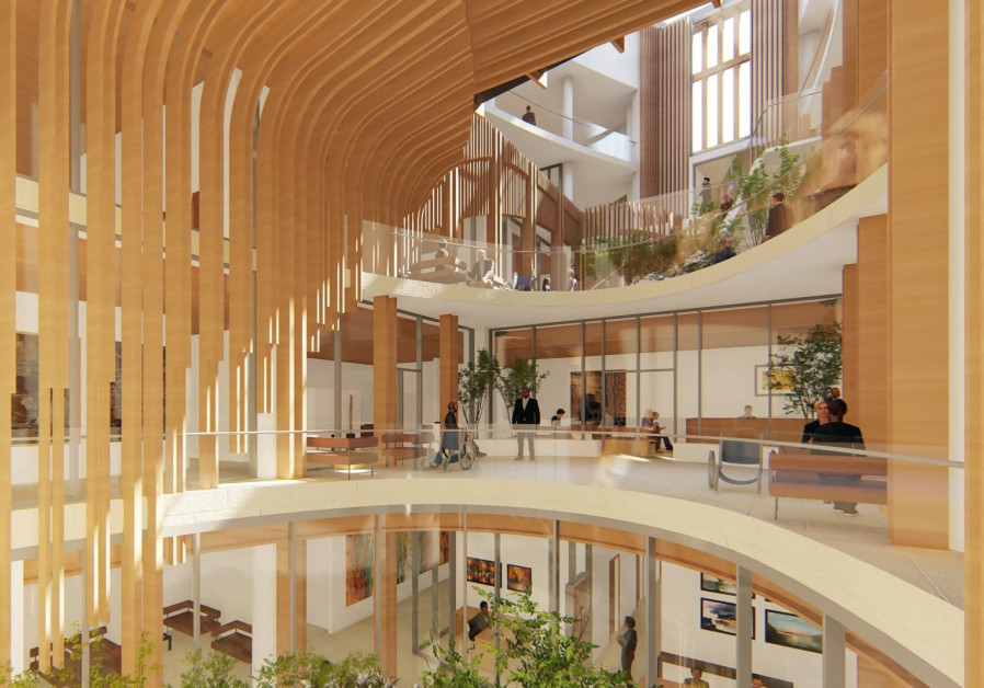 New radiotherapy institute planned for Shaare Zedek Medical Center (Credit: FARROW (Canada)/Rubinstein Ofer Architects)