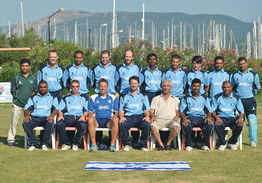 Israel's national cricket team at the 2012 European Championship in Corfu, Greece (HERSCHEL GUTMAN)