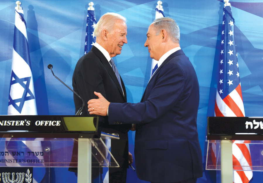 'I WILL have an effective dialogue with the Biden administration – even better than [Prime Minister Benjamin] Netanyahu.' (Pictured: The PM with President-elect Joe Biden in 2016  (Debbie Hill/Pool/File Photo/Reuters)