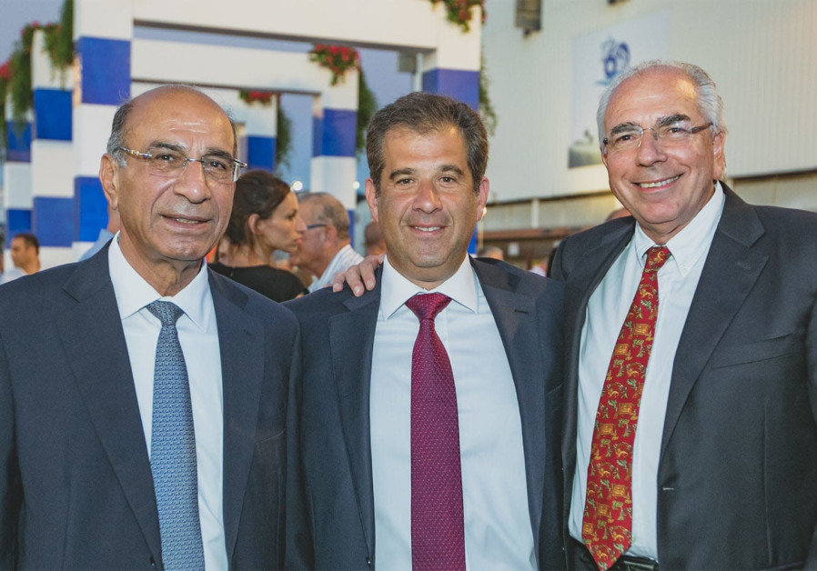 From Left to Right: Owners of Shipyards Israel Sami Katzav, Asi Shmeltzer and Shlomi Fogel. (Photo credit: Daniel Chersky)