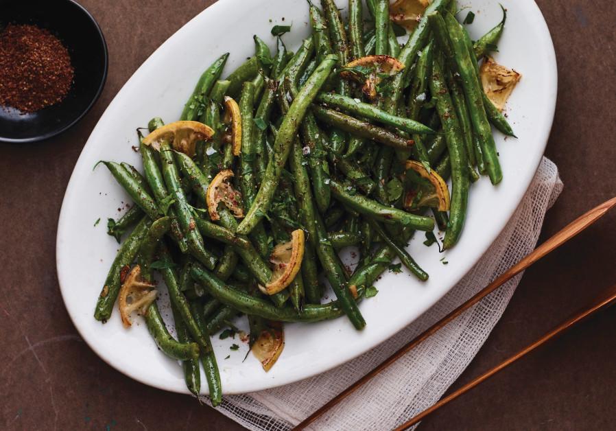 LEMON SUMAC green beans. (Jamie Geller)