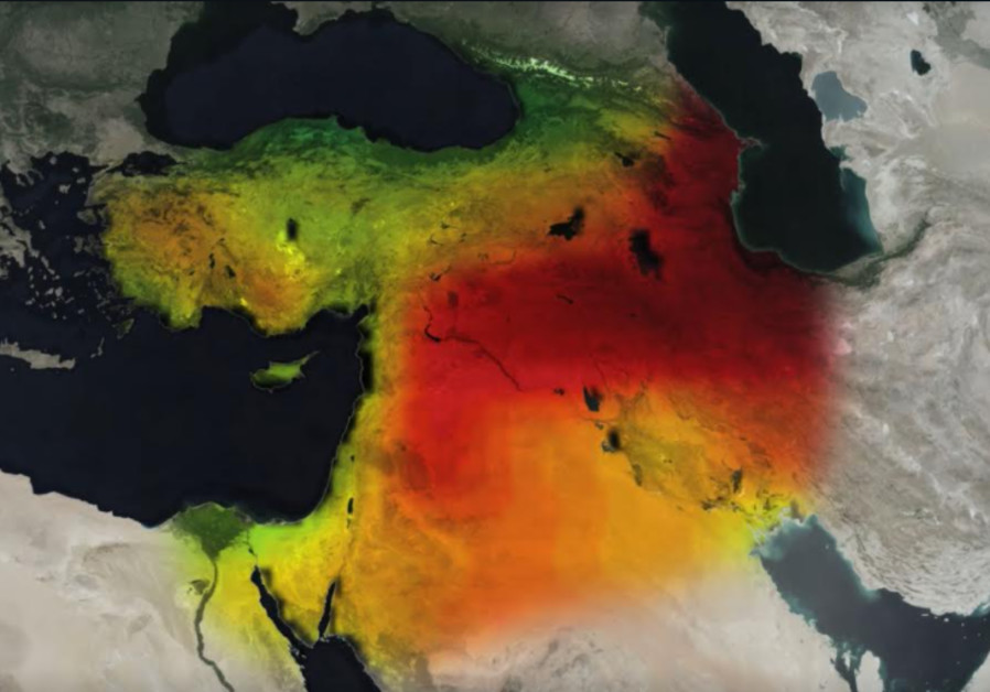 Mideast: NASA satellite imagery shows how the Middle East has become a major hotspot for loss of groundwater in recent years. (Courtesy)