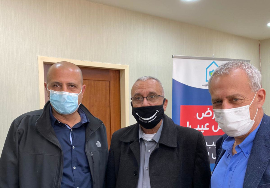From left: Ayman Saif, Abdulbast Salameh and Nachman Ash (Credit: Health Ministry)