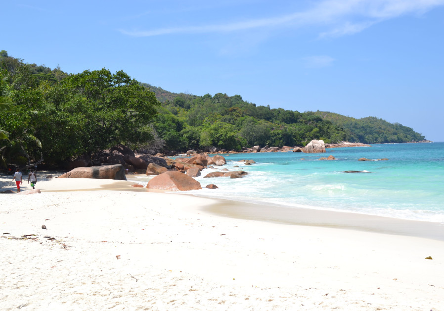 Grand Anse Beach on Praslin, considered one of the world's nicest beaches. (Credit: Tobias Siegal)