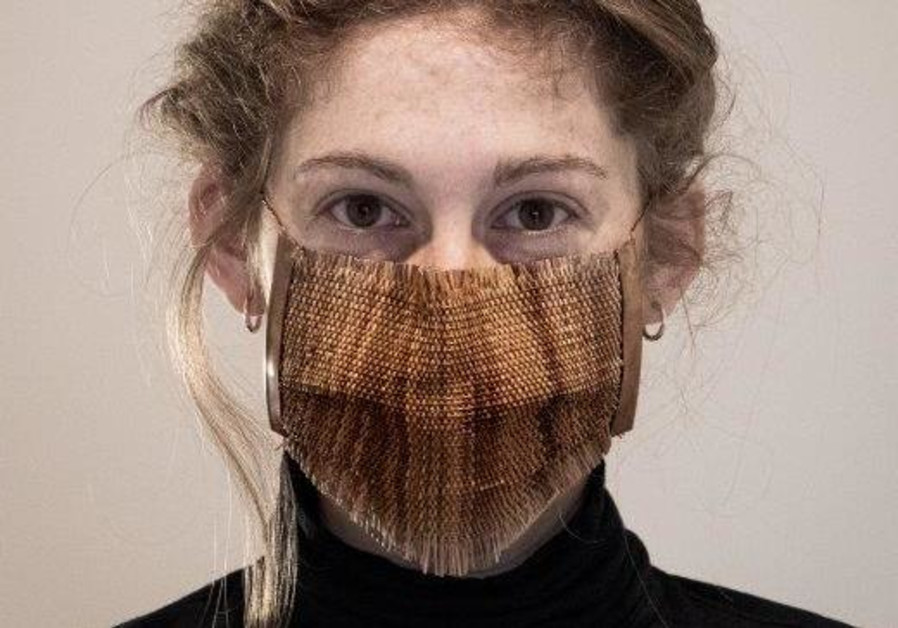 Copper and pine are both natural antiviral materials, and ingredients in the CoPine mask. Designed by Neria Nir (BEZALEL ACADEMY OF ARTS AND DESIGN)