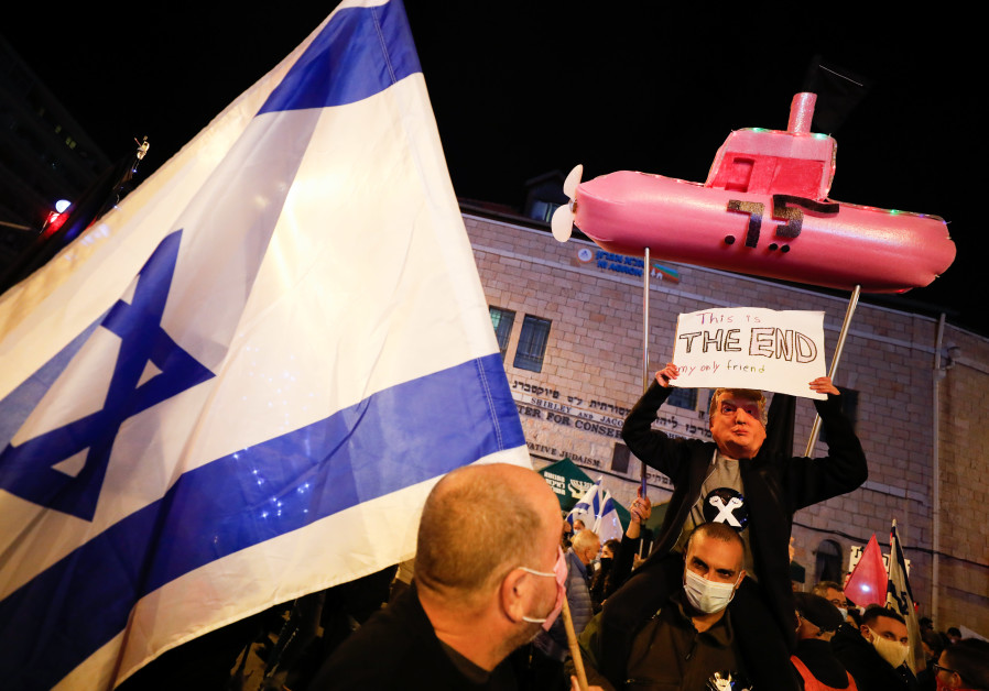 Anti-Netanyahu protesters ramp up demonstrations ahead of elections