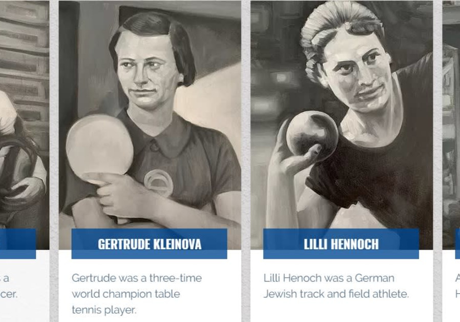 WWII-ear Jewish athletes featured on a mural