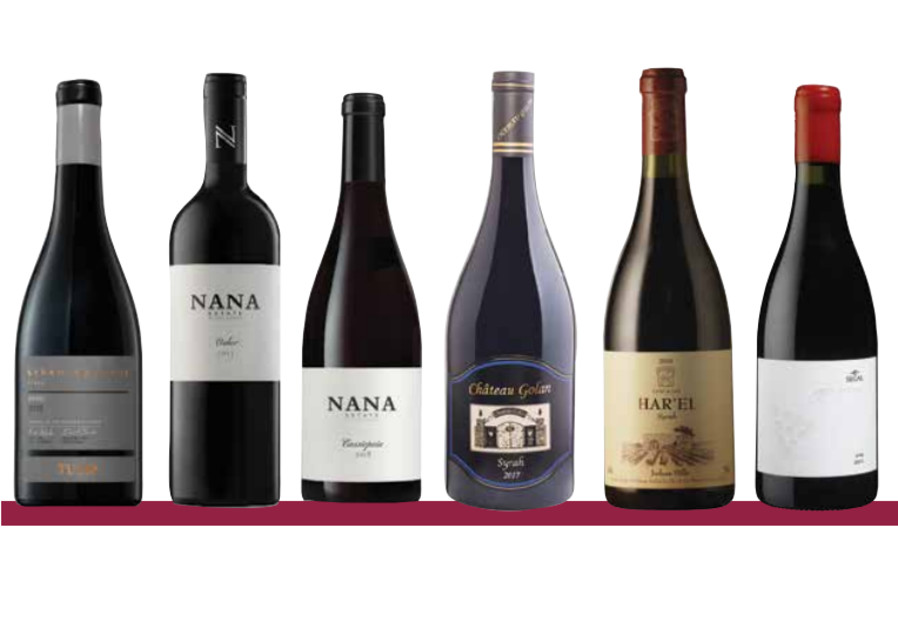 SOME OF the best examples of Israeli Syrah (from left): Tulip Winery, Nana Winery, Chateau Golan, Clos de Gat, Segal Winery.