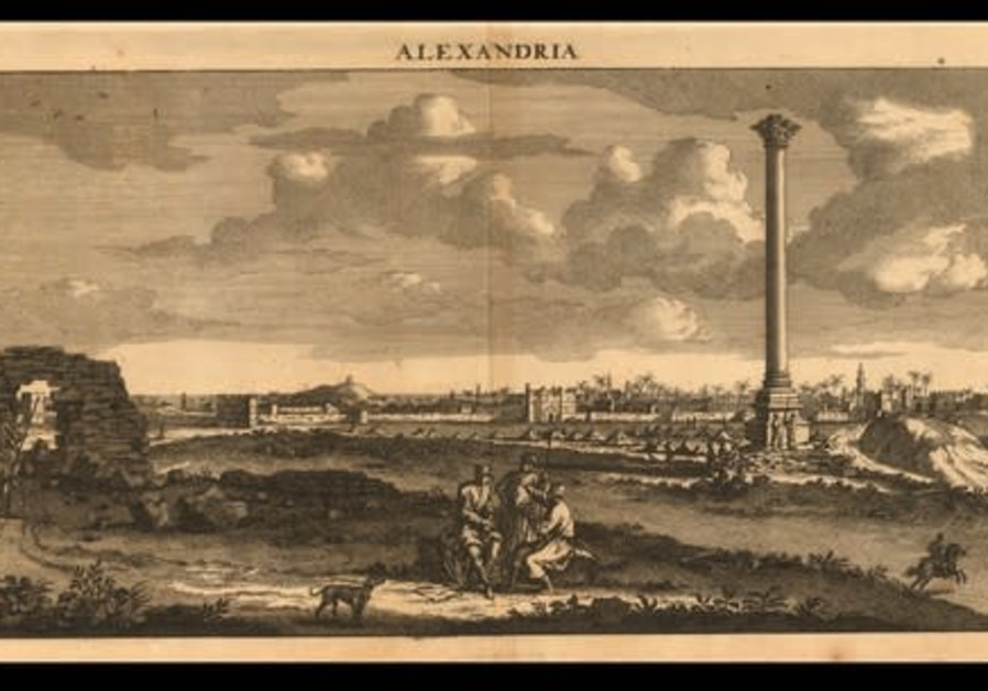 The ruins of ancient Alexandria, by Henrik van Krooneveld, 1698. (Photo credit: The Eran Laor Cartographic Collection/National Library of Israel)