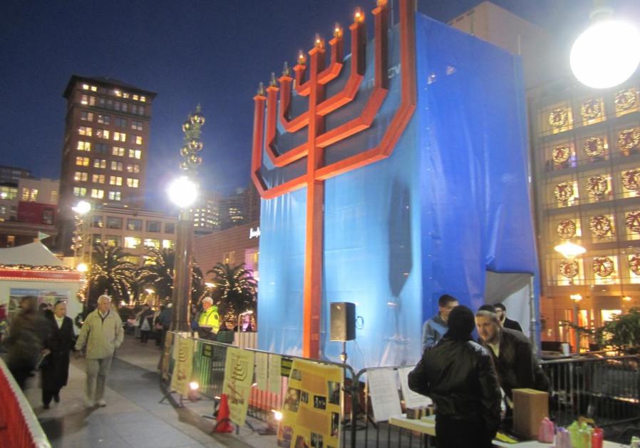 Hanukkah in San Francisco. (CHABAD OF SAN FRANCISCO)