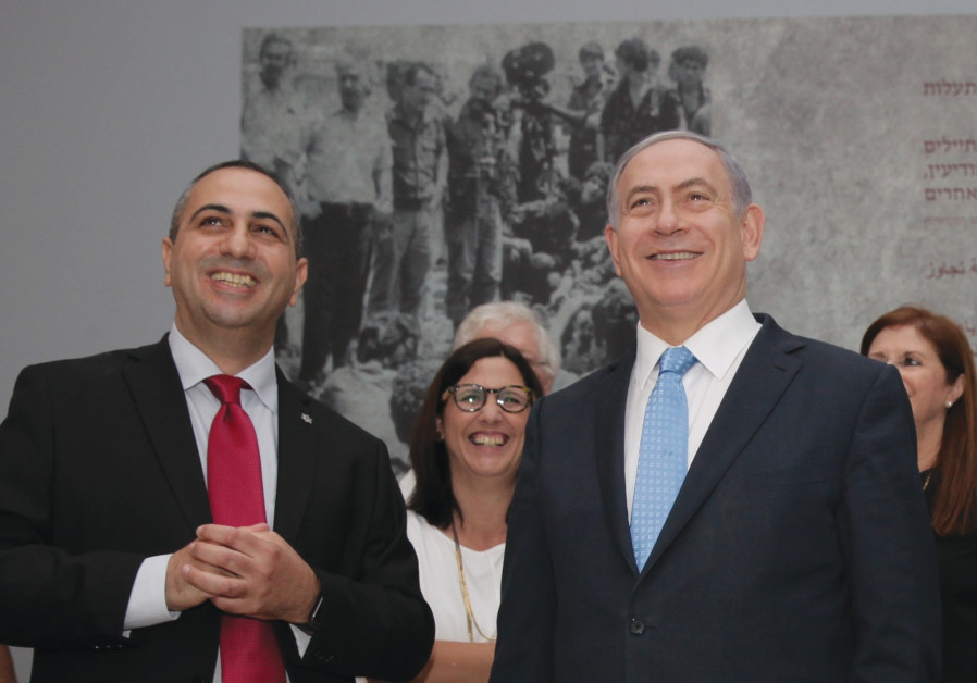 AT THE 2015 Operation Entebbe exhibition at Tel Aviv's Yitzhak Rabin Center Prime Minister Benjamin Netanyahu. (Photo credit: Operation Entebbe Exhibit/Yitzhak Rabin Center)