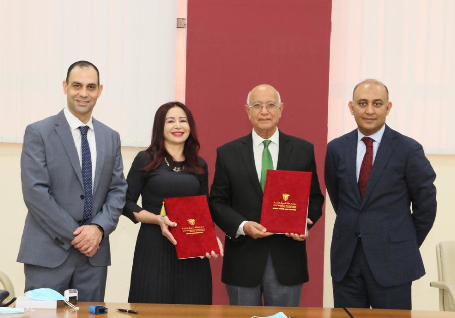 Envoys to the UAE from Israel's Galilee Medical Center sign an agreement with the dental clinic at the Gulf Medical University, UAE (Galilee Medical Center).