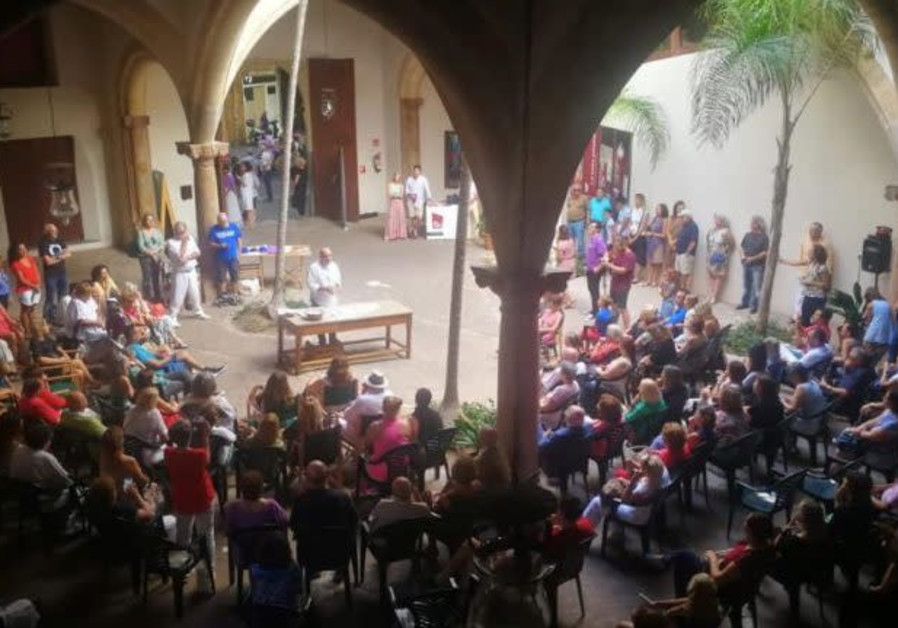 The first public Rosh Hashana celebration in Majorca, organized by Limud Mallorca in conjunction with the City Hall, 2019. (Photo credit: Felipe Wolokita/National Library of Israel)